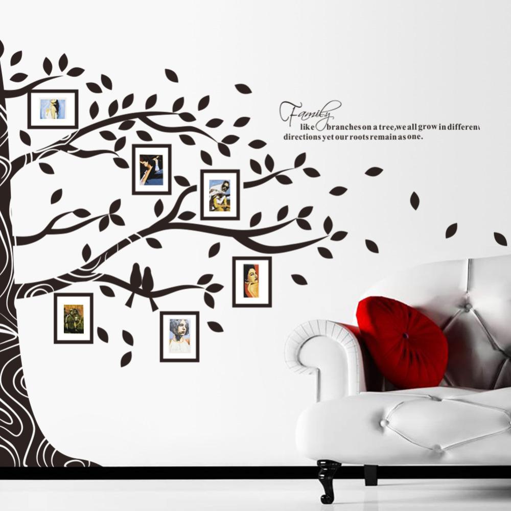 Memoria-árbol-genealógico-foto-DIY-la-flor-y-el-amor-grande-del-mundo-de-arte-decoración